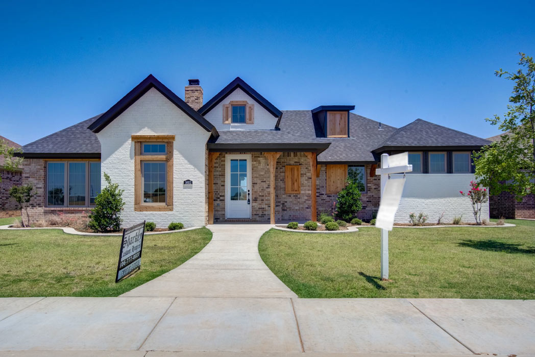 Beautiful new home for sale by Sharkey Custom Homes in Lubbock, Texas.