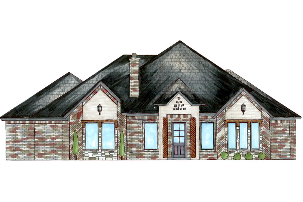 Beautiful new home under construction by Sharkey Custom Homes in Lubbock, Texas.