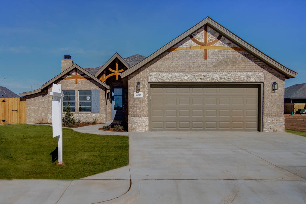 Remarkable home exterior by Sharkey Custom Homes in Lubbock.