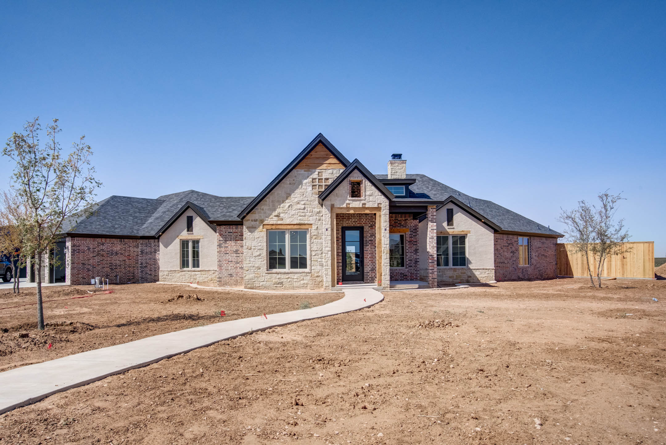 Exterior of beautiful house for sale in New Home, Texas.