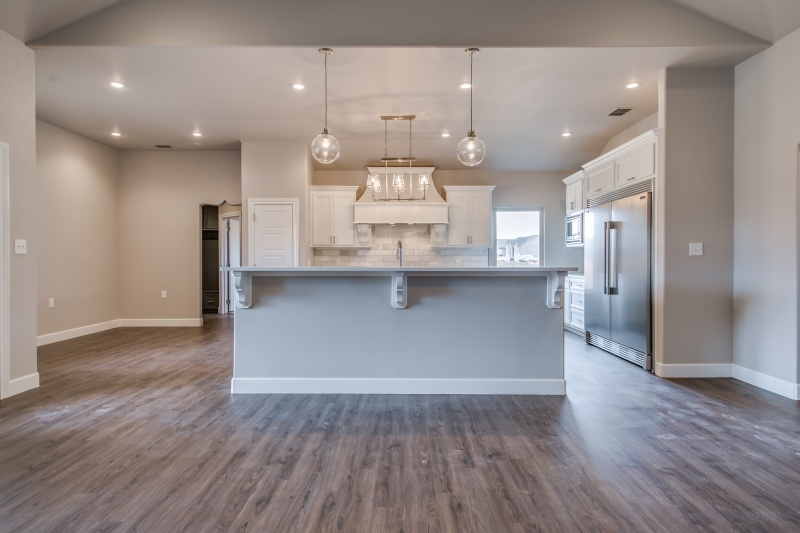 Kitchen in fine Lubbock custom home.