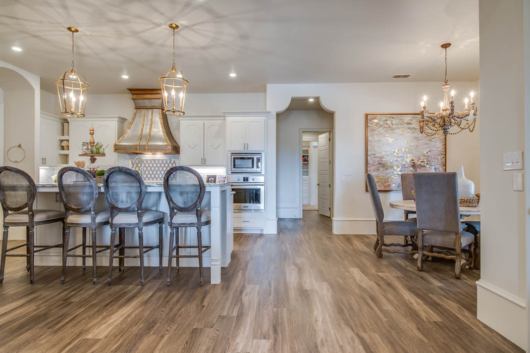 Amazing kitchen in home by Sharkey Custom Homes in Lubbock, Texas.
