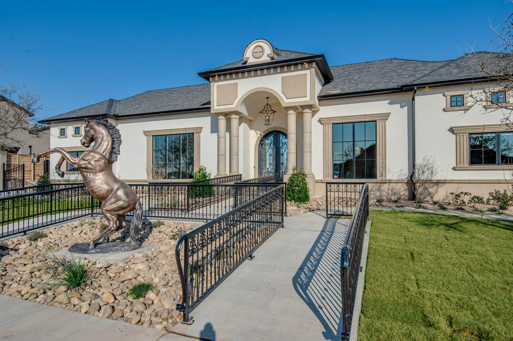 Exterior of beautiful custom home in Lubbock, Texas.