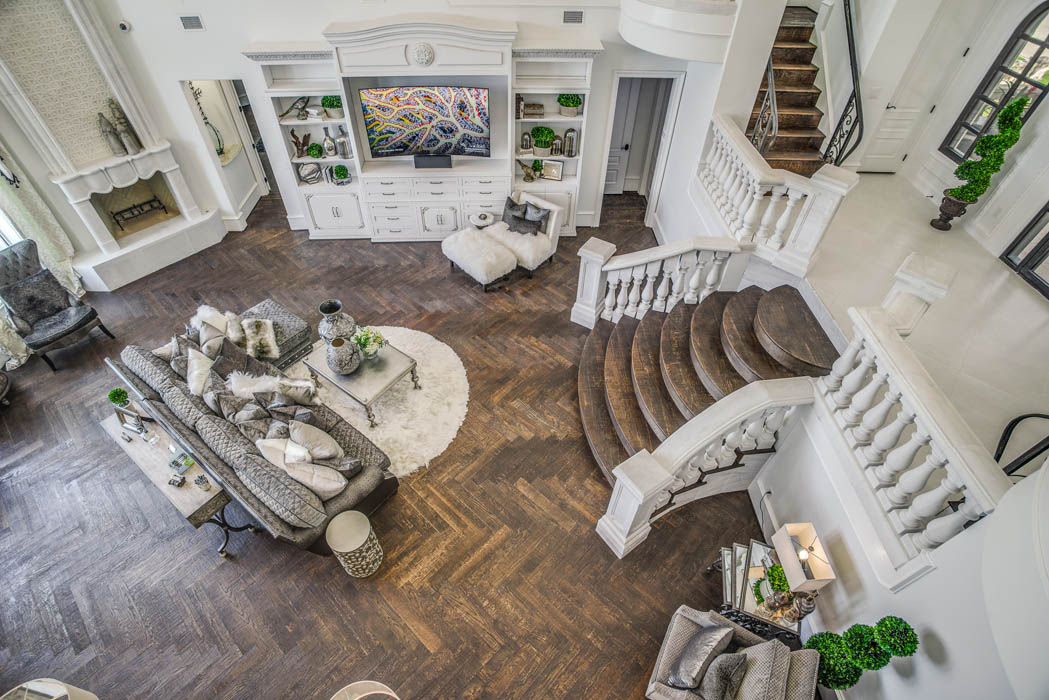 Beautiful living area in custom home in the Lubbock, Texas area.